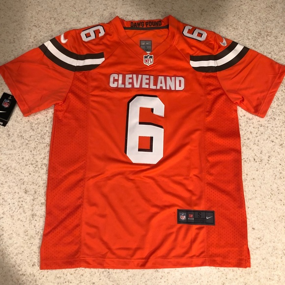 premium selection 3a504 02658 BAKER MAYFIELD CLEVELAND BROWNS STITCHED JERSEY NWT